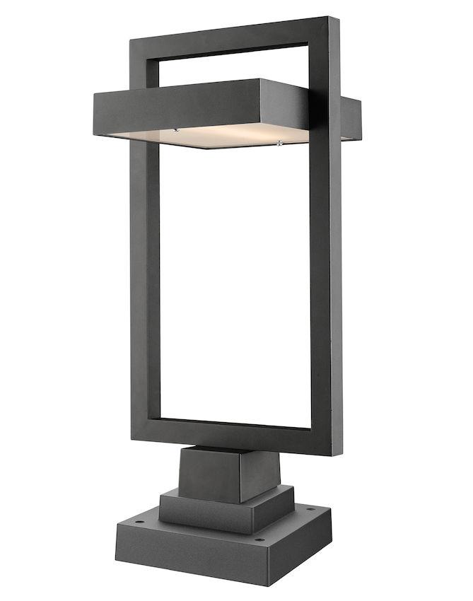 Lampe Piédestal Extérieure Z-Lite Luttrel 566PHBS-SQPM-BK-LED