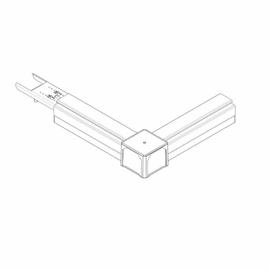 L SHAPE NODE WHITE-COIN SERIE 1-33  RL-A04-L7W -A