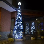 (Foto 16 -20) Albero a stelle 4m led blu+ tot. flash