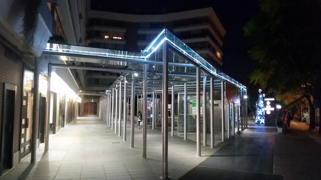 (Foto 15- 39) Perimetro con tubo luminoso