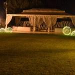 (Foto 16 -30) Giardino con Sfera bianco caldo da 40-50-100 cm (visiona video)