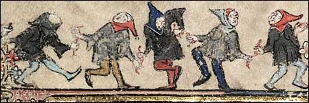 Dancers. Bodleian MS Bodley 264