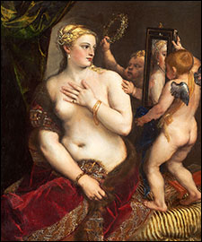 Titian.  Venus with a Mirror. 1555