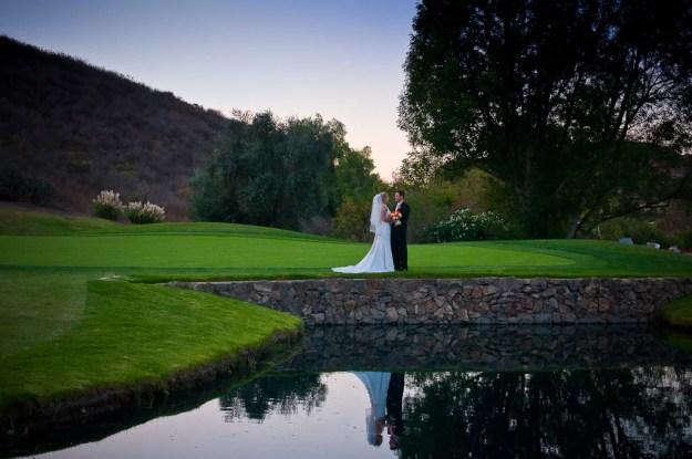 Beautiful lake wedding image at Sunset Hills Country Club