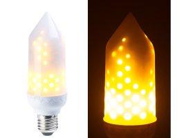 Luminea LED Flammen Lampe mit realistischem Flackern, E27 ...