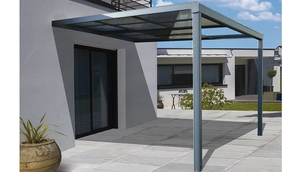 tonnelle adossee toscana 4 x 3 m aluminium polycarbonate proloisirs
