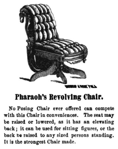 revolving chair accessories minnie mouse table and set canada luminous lint online exhibition 19th century photographic knell s patent designed furniture pharaoh