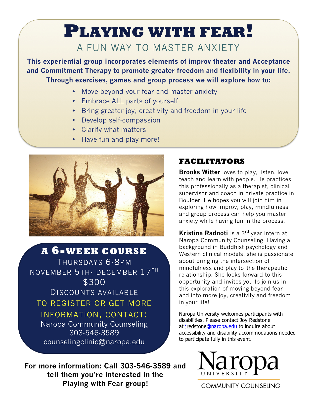 Act And Improv Therapy Group For Anxiety In Boulder Co