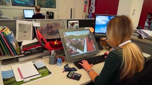 strumenti 3d di visualizzazione in uno studio di progettazione