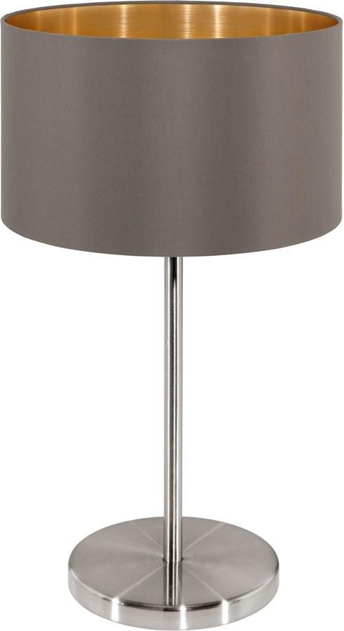 Tischlampe MASERLO cappuccino kaufen  Lumizil