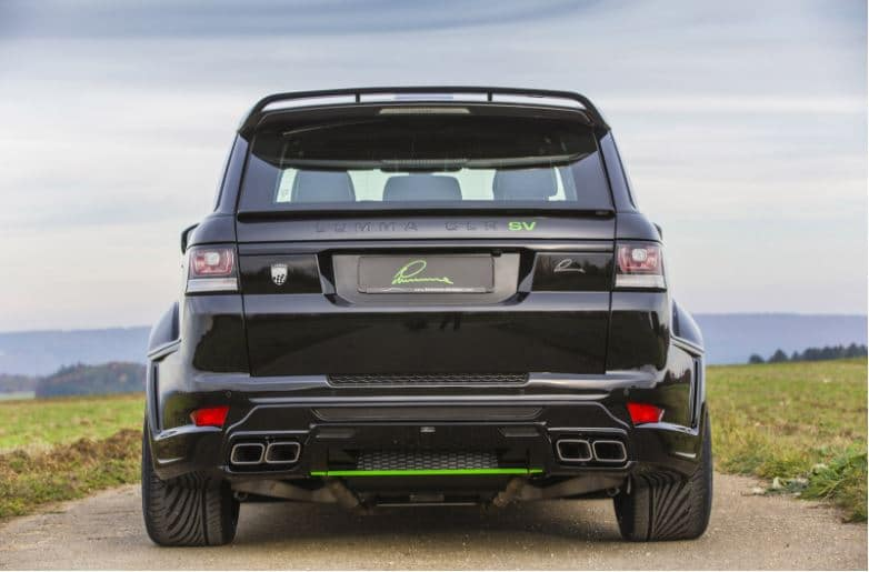 lumma sport rear exhaust silencers mufflers with tailpipes diesel