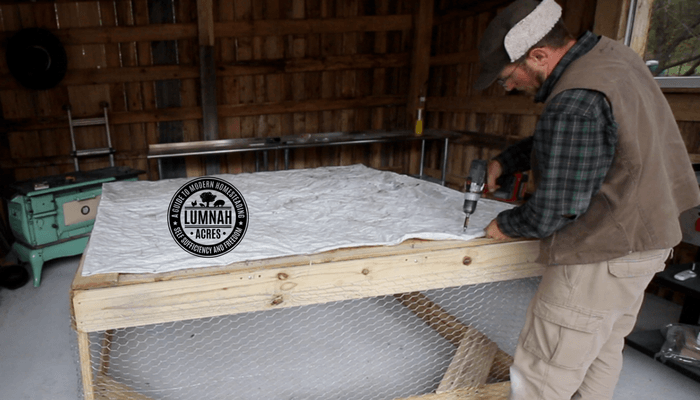 Installing the tarp on the $30 Chicken Coop in 30 Minutes