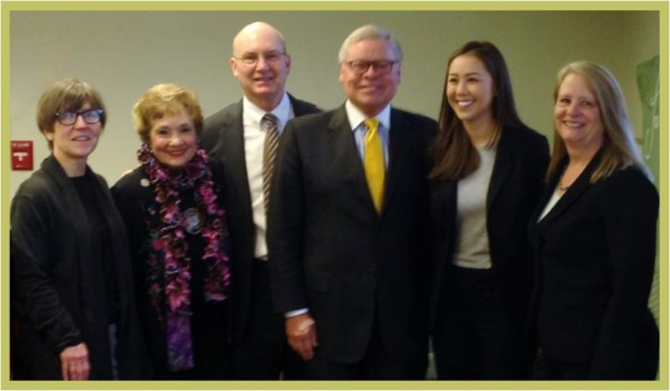 pictured l to r susan brouillette sheila kinker joe micon ron alting allison wong lori sparger purdue college of liberal arts