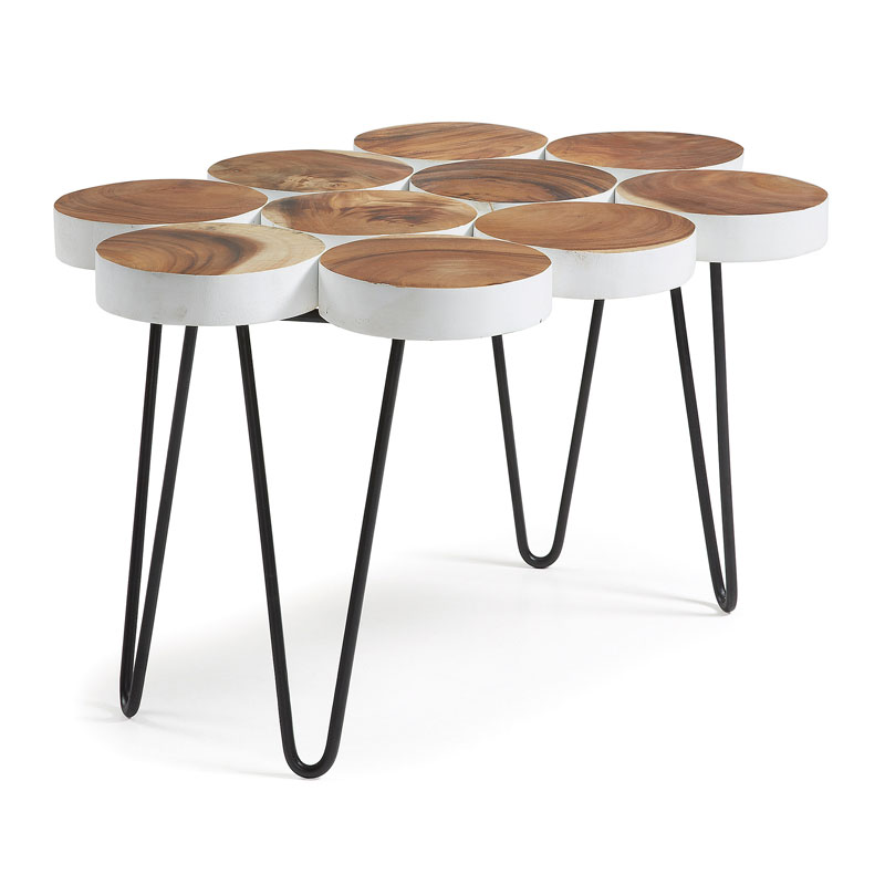 Kave Home Faina Design salontafel van hout LaForma Fiona