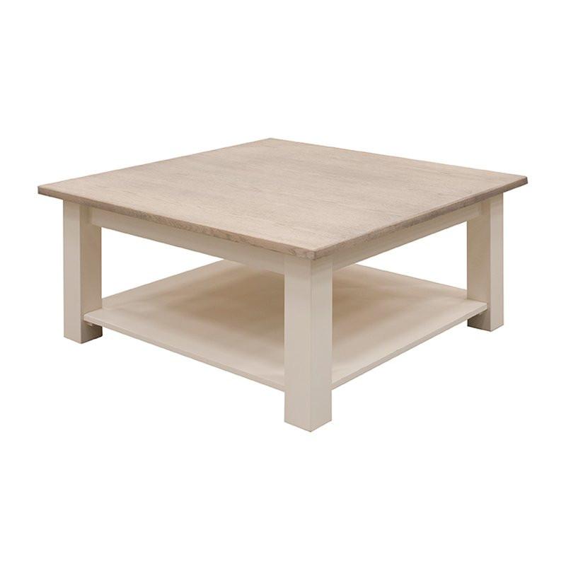 Landelijke salontafel vierkant Torino  Onlinedesignmeubelnl