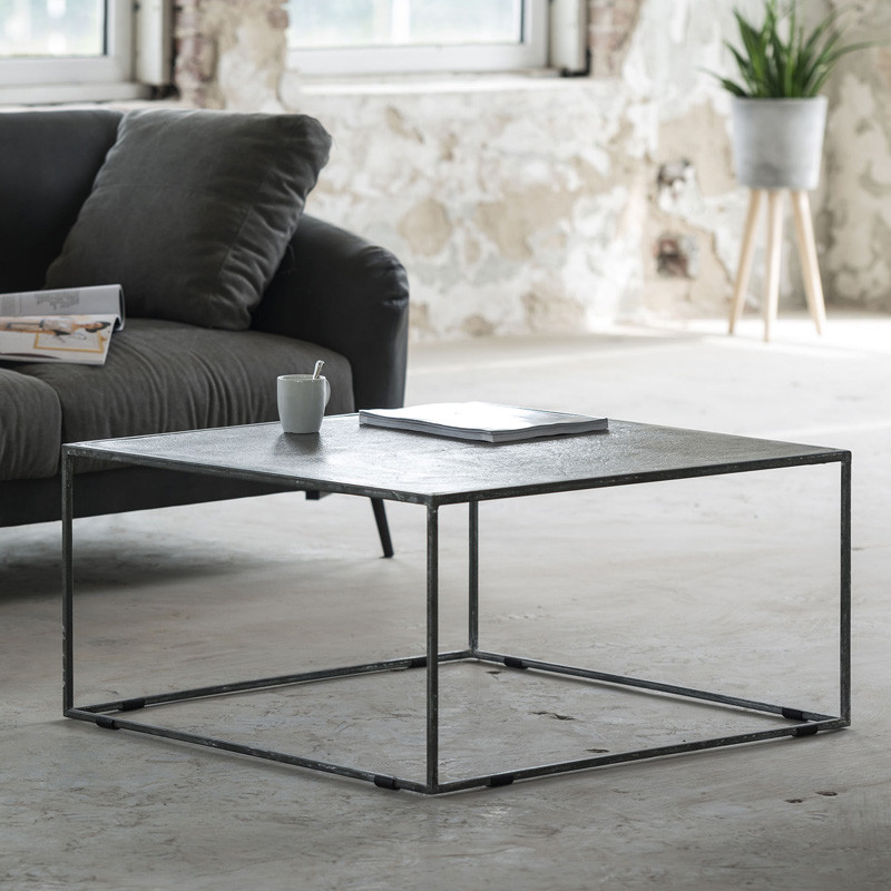 Metalen salontafel vierkant  Giani Hanza  LUMZnl