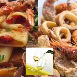 A TUTTO PESCE Menù Asporto Domicilio Ristorante Luna Blu Parma: Paccheri allo Scoglio Fritto Misto di Pesce Vino Bianco Costa di Amalfi