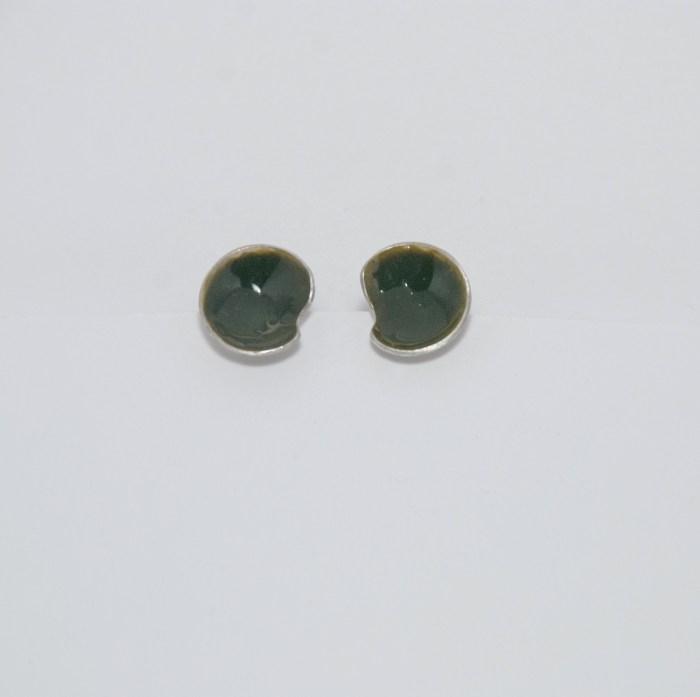 Tiny Colours zilver steker kaki groen