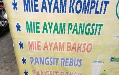 Mie Ayam di Sabang Jakarta Pusat