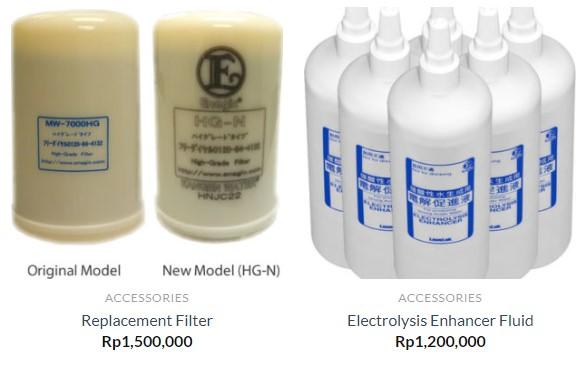 Replacement Filter dan Electrolysis Fluid