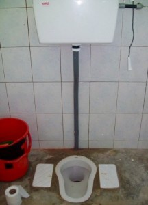 My first long-term squat toilet. Little did I know, it most definitely wouldn't be the last!