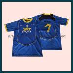 Hasil Produksi Dan Desain Jersey Sepak Bola Warna Biru Bahan Drifit