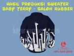 Hasil Produksi Sweater Baby Terry dengan Sablon Rubber
