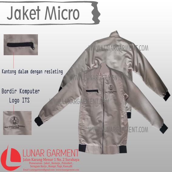 Hasil Produksi Jaket Micro+Furing Institut Teknologi Sepuluh Nopember