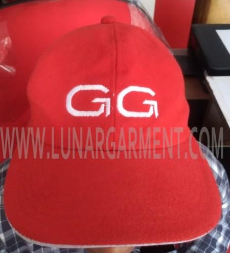 Hasil Produksi Topi Bahan Rapel GG (Depan)