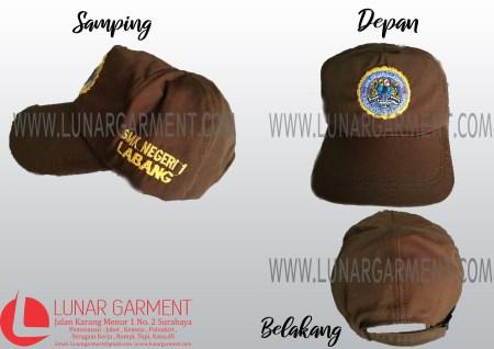 Hasil Produksi Topi SMK NEGERI 1 LABANG