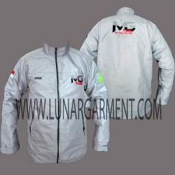 Hasil Produksi Dan Contoh Desain Jaket Taslan Waterproof MG Team