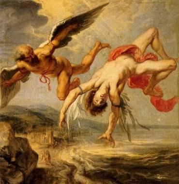 J.P. Gowy, da bozzetto di P.P. Rubens, La caduta di Icaro, 1636-38