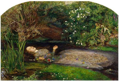 J. E. Millais, Ophelia, 1851-52