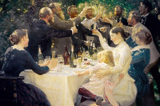 P.S. Kroyer, Il brindisi, 1888.