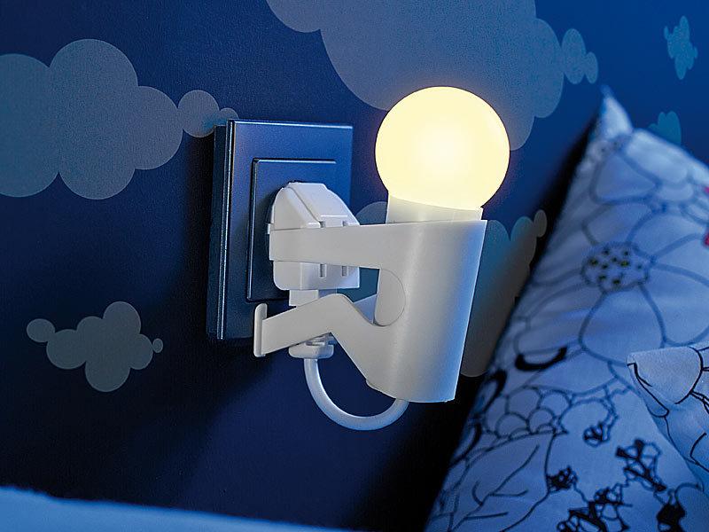 Lunartec Originelles LEDNachtlicht Lustiges Kerlchen mit Dmmerungssensor