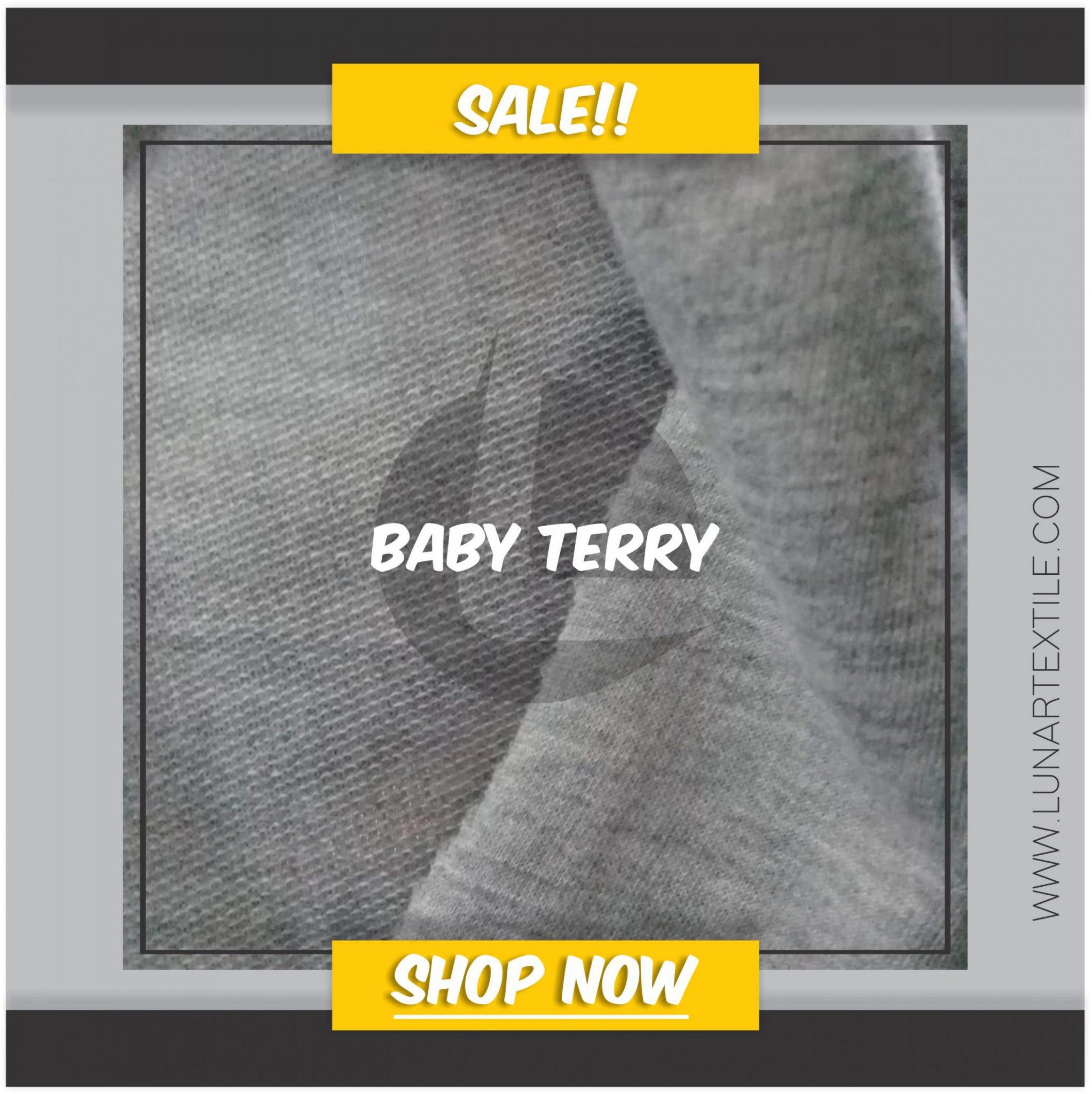 Bahan Kain Konveksi Baby Terry