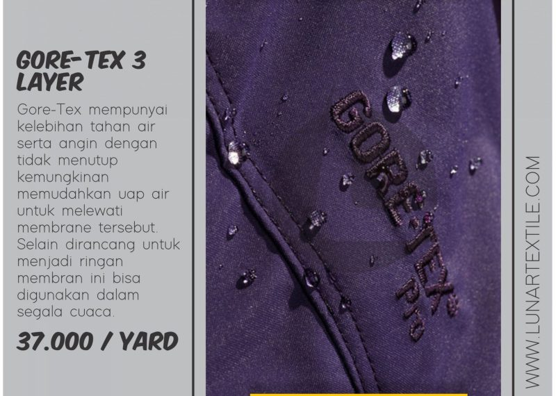 Bahan Kain Gore-Tex Waterproof