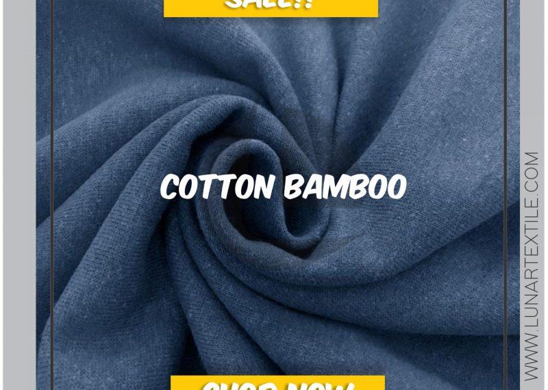 Bahan Kain Konveksi Cotton Bamboo