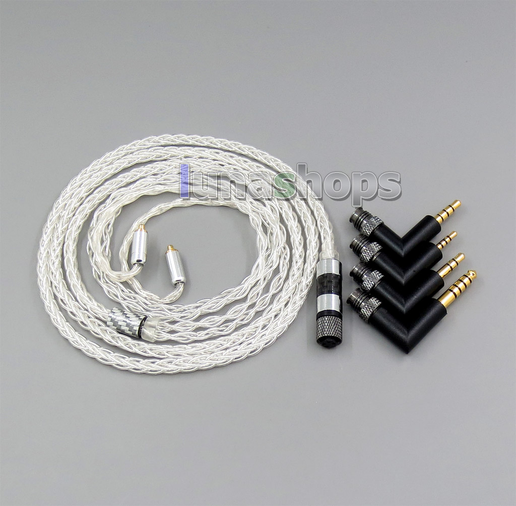 hight resolution of 8 cores 99 99 pure silver earphone cable for shure se535 se846 mmcx 5 6 8