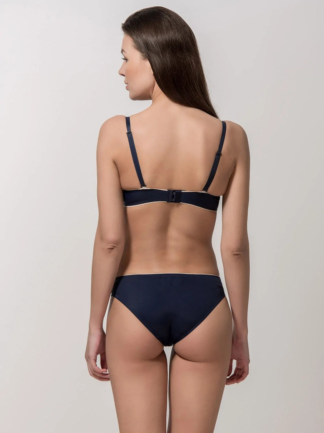 Miracle One 1809 push-up & 2808 brief blue back