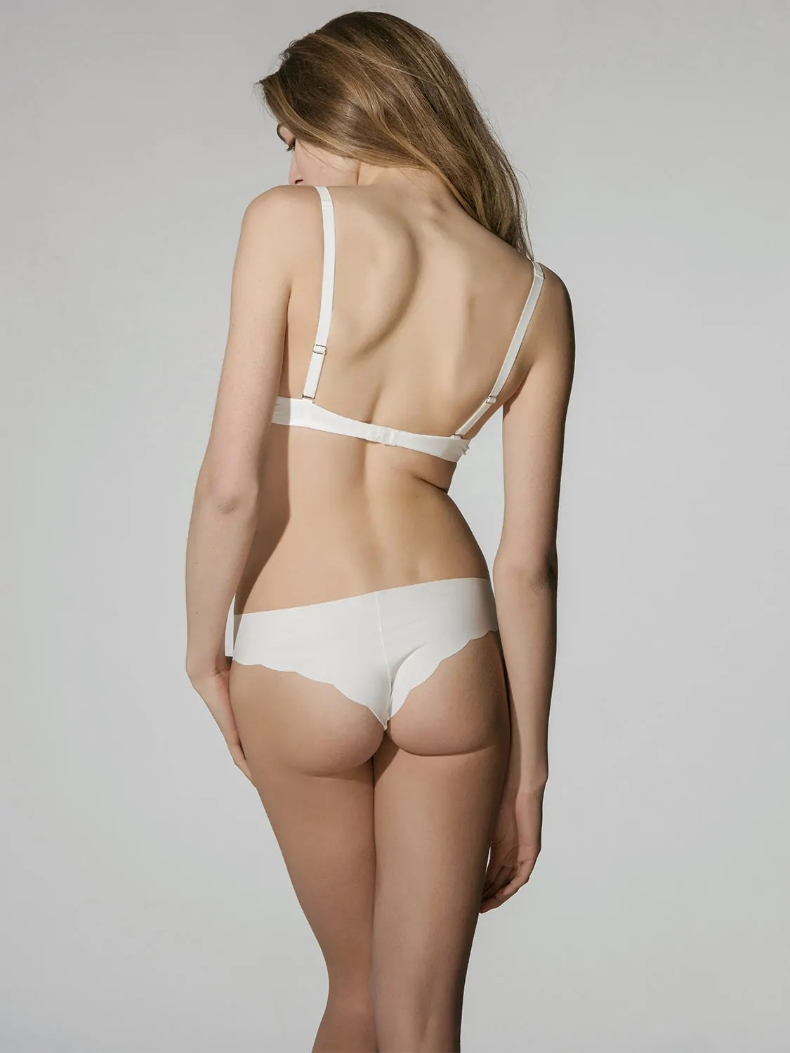 Secret Sense 2103 laser-cut brazilian brief ivory back