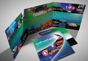 Events Company Glossy Folded Brochure design & Branding