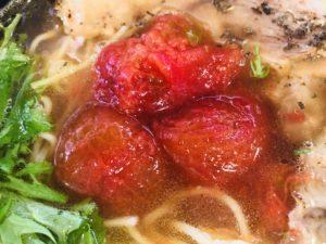 ドリーム 曽我トマトとあぶりチャーシューのラーメン トマトアップ