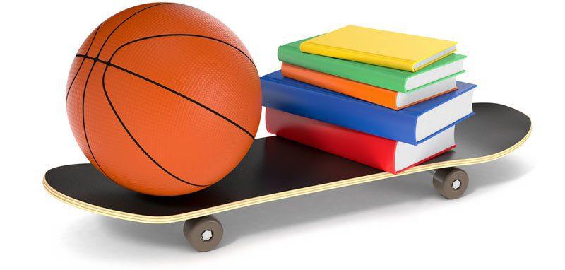 תמונה של כדורסל וספרים
