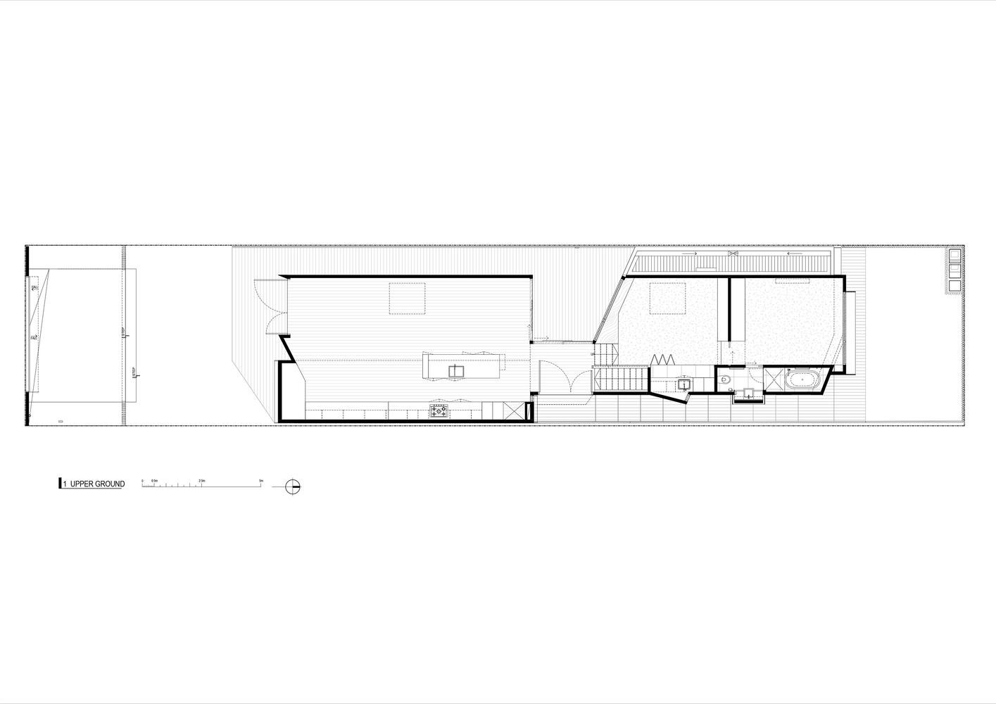 a contemporary house reinterprets its victorian era neighbours [ 1415 x 1000 Pixel ]