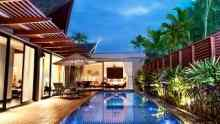View of the pool at night...AVC Phuket