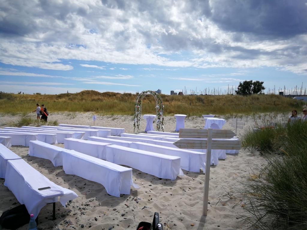 Hochzeit am Strand von Heiligenhafen  OstseeCatering