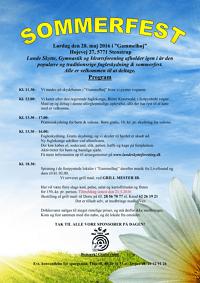 Sommerfest program 2016