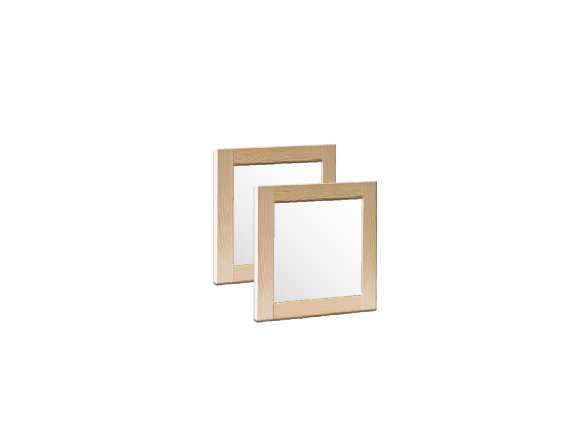 porte cadre en bois massif et panneau vitre depoli 100 cm