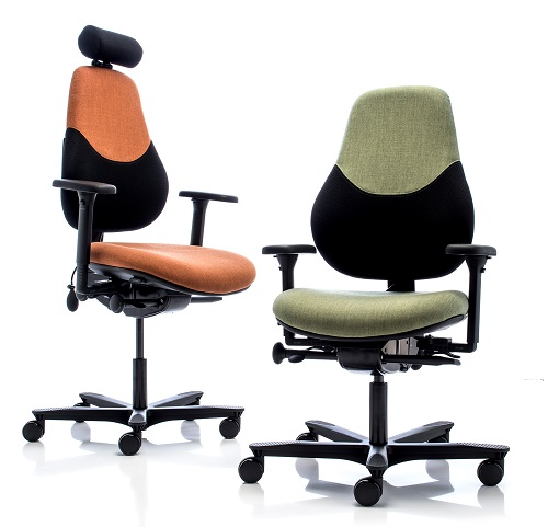 Fully adjustable ergonomic office chairs including RH Hag Grahl Orangebox Advance and Adapt